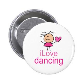 Cute I Love Dancing T-shirt Gift 2 Inch Round Button