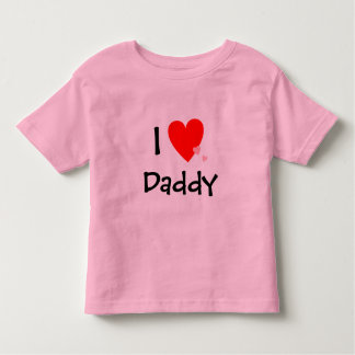 Cute I Love (Heart) Daddy Toddler T-shirt