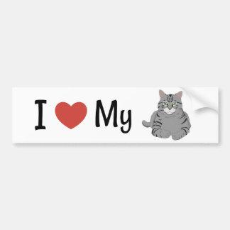 Cute I Love My Cat Bumper Sticker