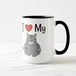 Cute I Love My Cat Mug