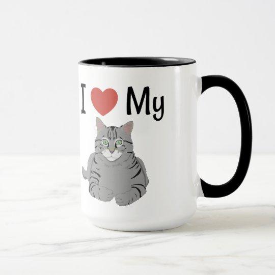 Cute I Love My Cat Mug