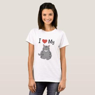 Cute I Love My Cat T-Shirt