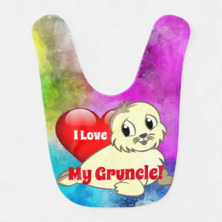 "Cute ""I Love My Gruncle!"" with Baby Seal Bib"
