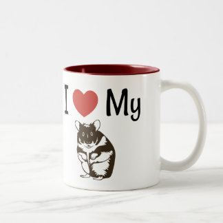 Cute I Love My Hamster Two-Tone Coffee Mug