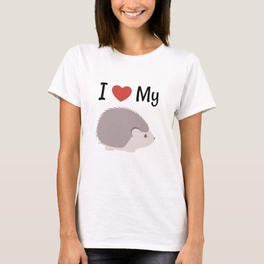 Cute I Love My Hedgehog T-Shirt