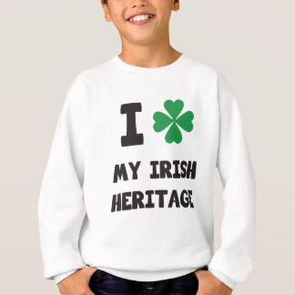 Cute I love My Irish Heritage Print Sweatshirt