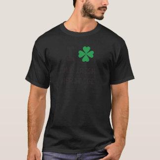Cute I love My Irish Heritage Print T-Shirt