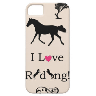 Cute I Love Riding! Equestrian iPhone 5 Case