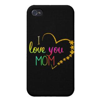 cute i love you  mom iphone-7 cover design