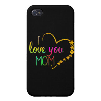 cute i love you  mom iphone-7 cover design case for iPhone 4