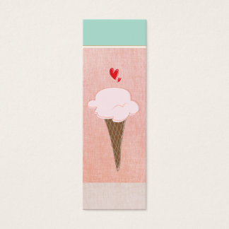 Cute Ice Cream Cone Calling Card