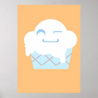 Cute Ice Cream Dish Poster