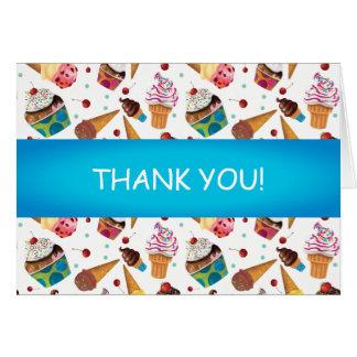 Cute Ice Cream Print Child's Thank You Card