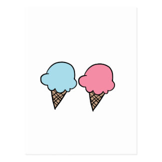 Cute Ice Cream shirts, accessories, gifts Postcard