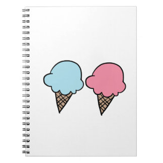 Cute Ice Cream shirts, accessories, gifts Spiral Notebook