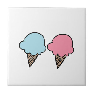Cute Ice Cream shirts, accessories, gifts Tile