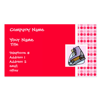 Cute Ice Skate Business Cards