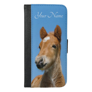 Cute Icelandic Horse Foal Pony Head Photo - Name - iPhone 6/6s Plus Wallet Case