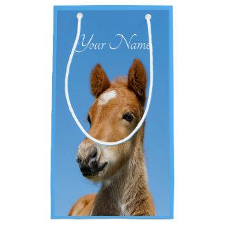 Cute Icelandic Horse Foal Pony Head Photo - Name / Small Gift Bag