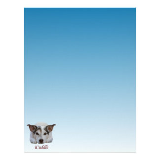Cute iCuddle Jack Russel Dog Letterhead