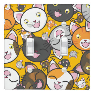 Cute illustrated Kittens design Light Switch Cover