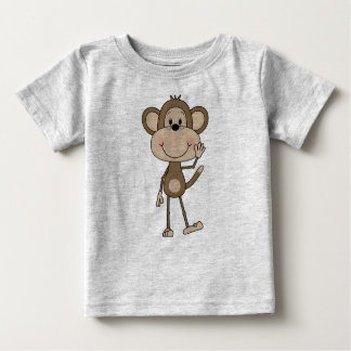 Cute illustrated Monkey Baby T-Shirt