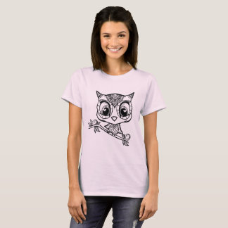 Cute Illustrated Owl T-Shirt