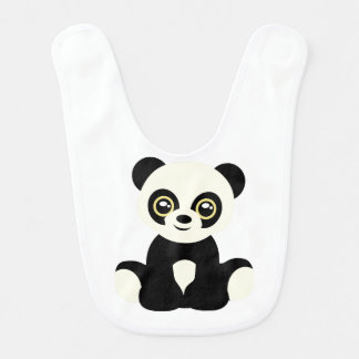 Cute illustrated panda bib