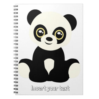 Cute illustrated panda note books
