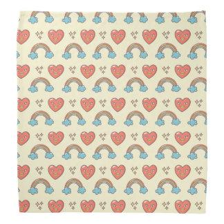 Cute Illustrated Pattern Bandana