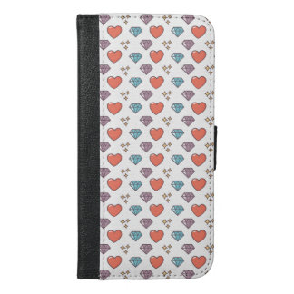 Cute Illustrated Pattern iPhone 6/6s Plus Wallet Case