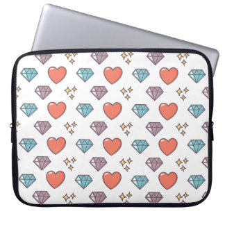 Cute Illustrated Pattern Laptop Sleeve