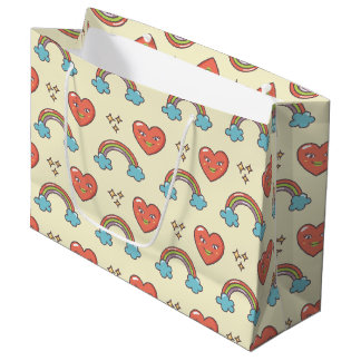 Cute Illustrated Pattern Large Gift Bag