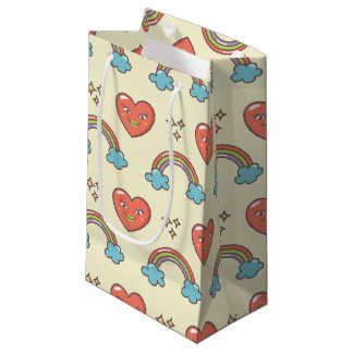 Cute Illustrated Pattern Small Gift Bag