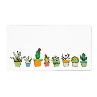 Cute Illustrated Succulent Garden