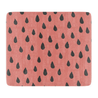 Cute Illustrated Summer Watermelon Seeds Pattern Boards