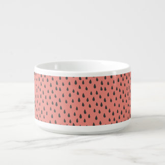 Cute Illustrated Summer Watermelon Seeds Pattern Bowl