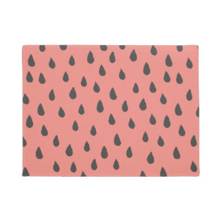 Cute Illustrated Summer Watermelon Seeds Pattern Doormat