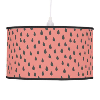 Cute Illustrated Summer Watermelon Seeds Pattern Pendant Lamp