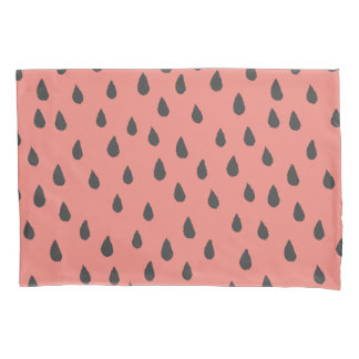 Cute Illustrated Summer Watermelon Seeds Pattern Pillowcase