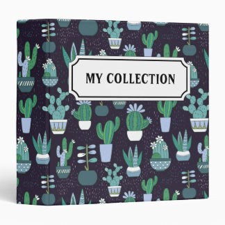 Cute illustration of cactus pattern binder