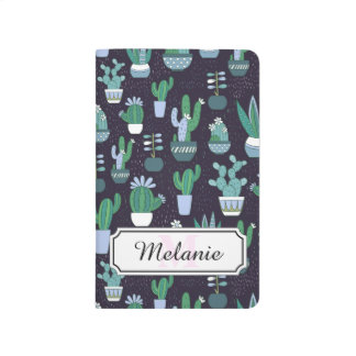 Cute illustration of cactus pattern journal