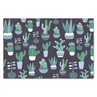 Cute illustration of cactus pattern tissue paper