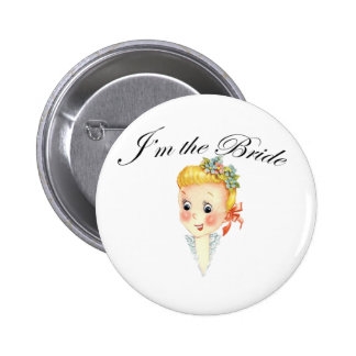 Cute I'm the Bride Hen Party Bridal Shower 2 Inch Round Button