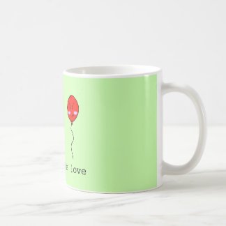 Cute impossible Love Cactus and Balloon Coffee Mug