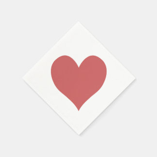 Cute Indian Red Heart Napkin