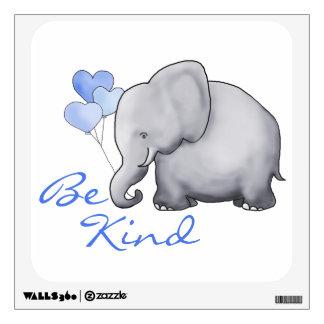 Cute Inspirational Be Kind Elephant Nursery Wall Sticker