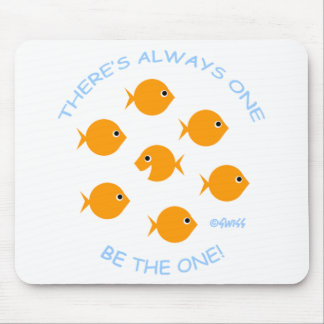 Cute Inspirational Goldfish Mousepad
