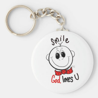 Cute inspirational pin keychain