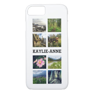 Cute Instagram Photos and Personalized Name iPhone 8/7 Case
